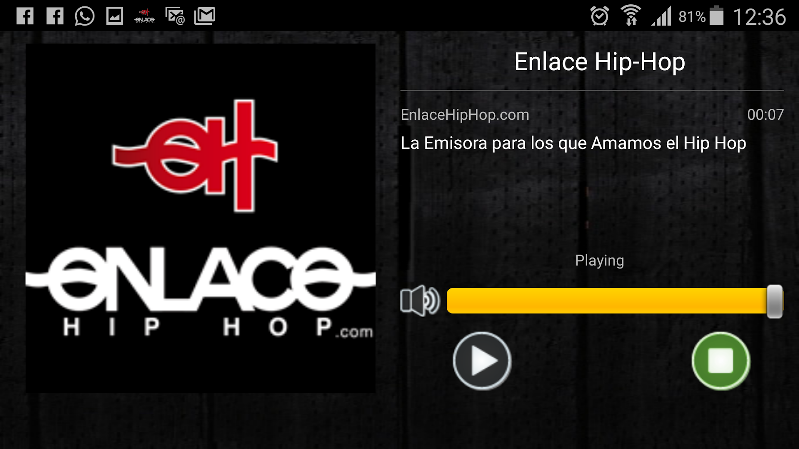 Enlace Hip Hop: captura de pantalla