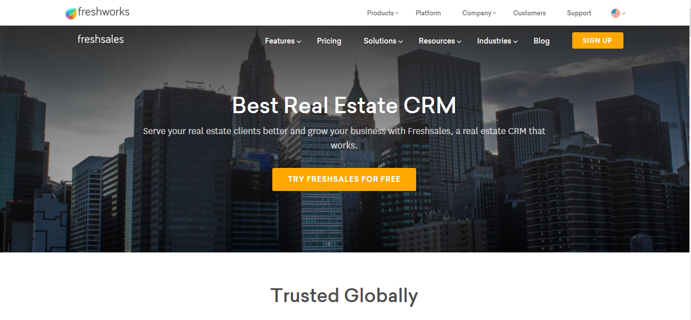 Freshsales, the best real estate CRM software