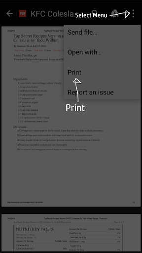 HP Print Service Plugin screenshot 2