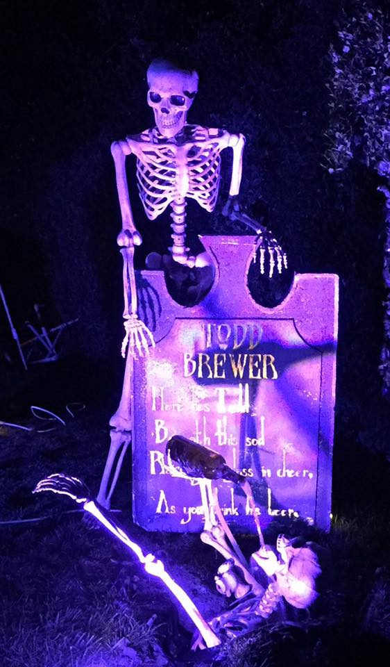 3D printed Halloween tombstone