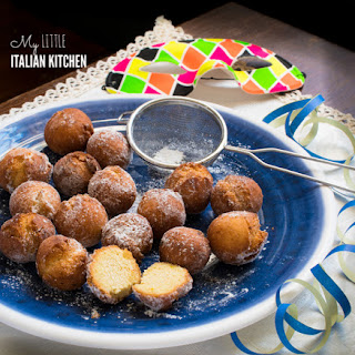 Italian little sweet fried balls for Carnevale.