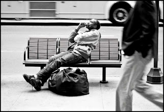 Photo: bench time - 42nd Street, NYC