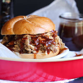 Root Beer Pulled Pork with Root Beer BBQ Sauce.