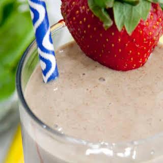Strawberry Banana Flax Smoothie.