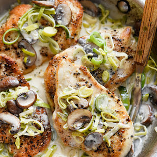 Chicken Breast With Mushrooms And Leeks Recipes.
