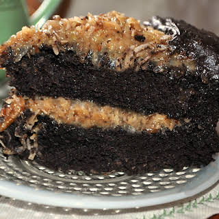 Dark German Chocolate Cake.