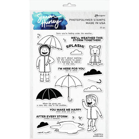 Simon Hurley create. Clear Stamps 6X9 - Puddle Pals