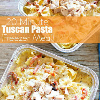 20 Minute Tuscan Pasta (Freezer Meal).