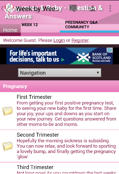 Pregnancy Stages- screenshot