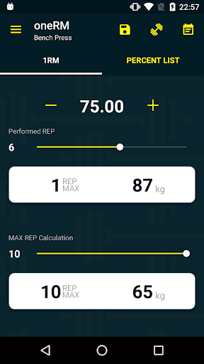 玩免費健康APP|下載oneRM - 1 Rep Max Calculator app不用錢|硬是要APP