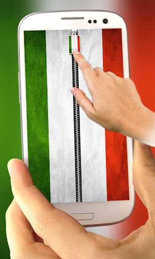 Italy Flag Zipper Lock Screen