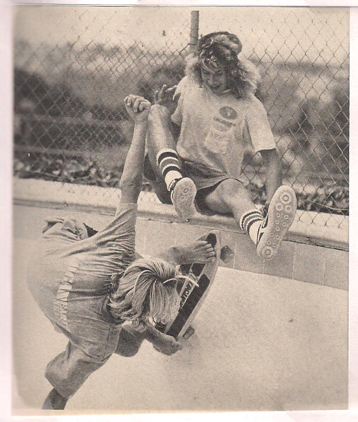 Photo: Great shot of Jay and Tony messing around on a pool coping