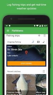 FishMemo - fishing tracker - náhled
