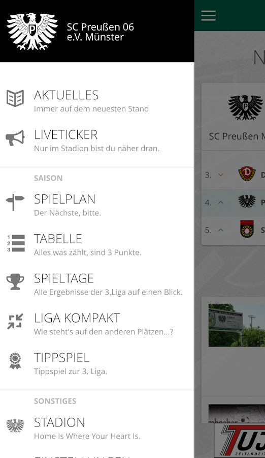 SC Preußen 06 e.V. Münster- screenshot