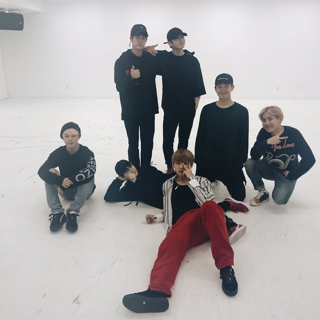 BTS Suga in BTS Spring day dance practice