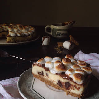 Chocolate Overload S'mores Cheesecake.