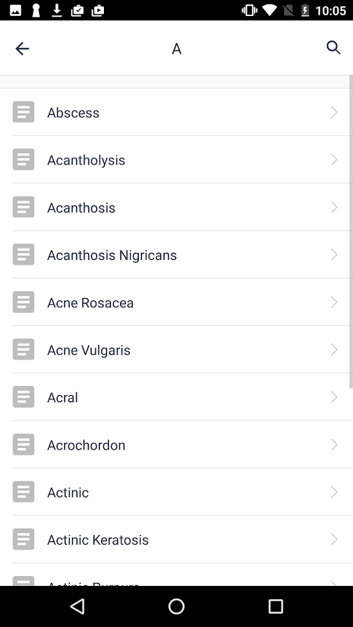 Dermatology Glossary- screenshot