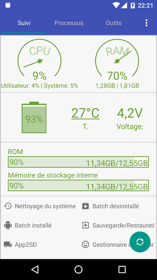 Assistant for Android - 1MB – Capture d'écran
