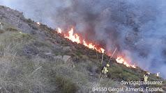 Imagen del incendio publicada por Infoca en su perfil de Twitter.