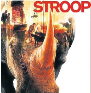 "The poster for the documentary, "" STROOP- journey into the rhino horn war"""