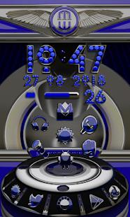 Next Launcher theme Blue Diamo - náhled