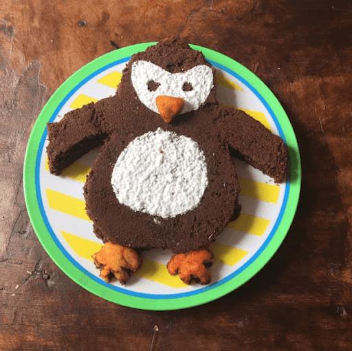 gâteau d'anniversaire 3 ans PopCorn La Marche de l'empereur