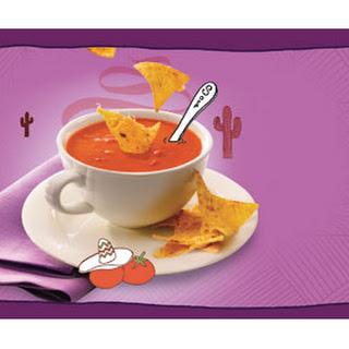 Tomatensoep Met Room, Zongedroogde Tomaten En Tortilla Chips