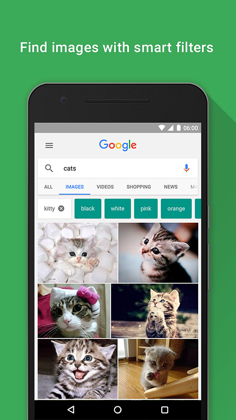 Screenshots of Google for Android