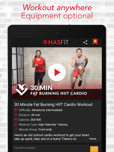 HASfit Home Workout Routines & Fitness Plans screenshot 14