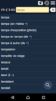 Screenshot of French Romanian Dictionary Fr