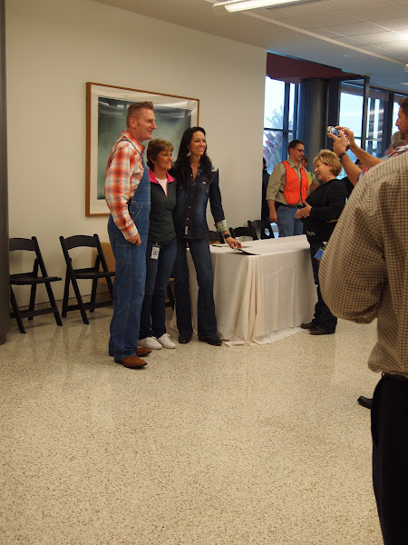 Photo: Afterwards Joey and Rory signed autographs & took pictures. They had drawings for some awesome prizes...one was a grill! Joey and Rory were the judges for the BBQ cook off, too. They were busy!