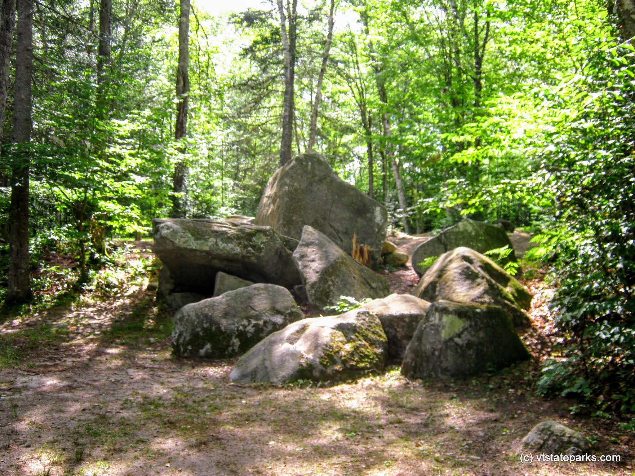 Photo: Tumbled boulders at Big Deer State Park by Matt Parsons