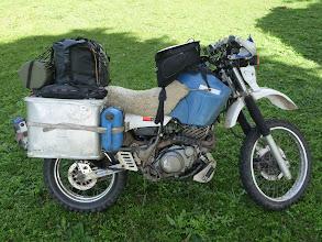 Photo: Größere Gepäcktasche statt dem Topcase (für bessere Gewichtsverteilung) und neuer Tankrucksack