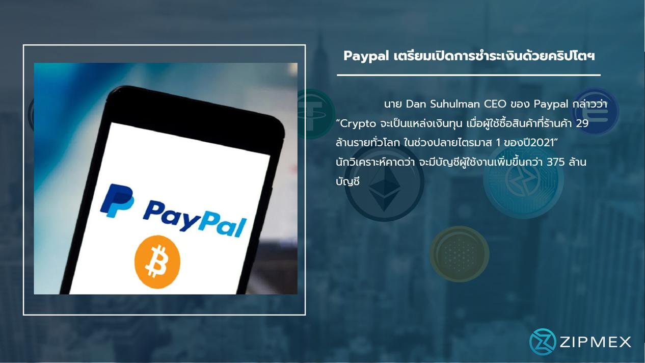 Paypal เตรียมเปิดชำระด้วยคริปโต