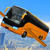Futuristic Flying Bus Racing