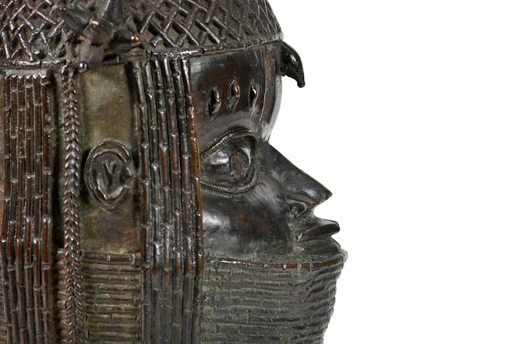 A view of the Benin bronze depicting the Oba of Benin at the University of Aberdeen in Aberdeen, Scotland, March 17 2021. Picture: March 17 2021. Picture: UNIVERSITY OF ABERDEEN/REUTERS