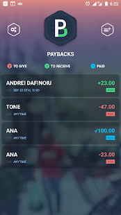 PayBacks –Small loans manager - náhled