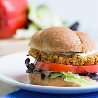 Garden Chickpea Veggie Burger.