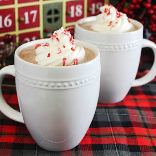 Peppermint & Whipped Vodka Hot Chocolate.