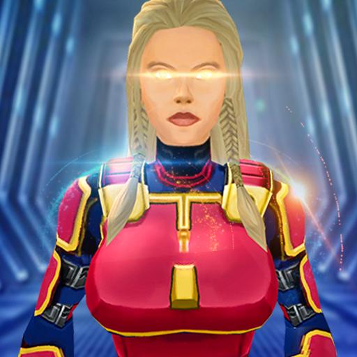 Baixar capitão menina super-herói robô gangster crime para Android