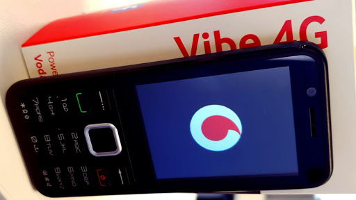 The Vodacom Vibe 4G smart feature phone.