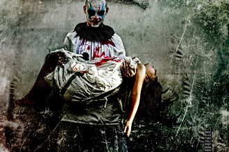 Photo: Another shot from the Halloween shoot, thank you to my very brave model who hates clowns Estelle :)