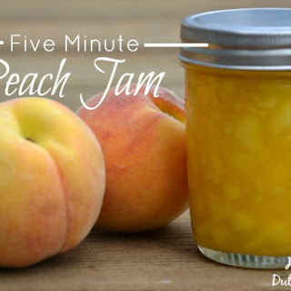 Five Minute Peach Jam