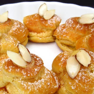 Almond Paris Brest with Apricot French Buttercream.