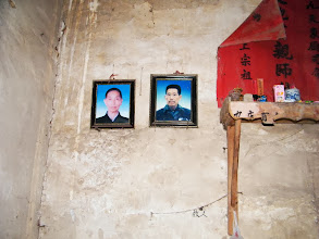 Photo: journey hometown in summer 2013 shakes doubts and plows hope: lingering in Town Tian in summer heat most of our vacation.here memorial photos of my passed parents on wall  of their old house.