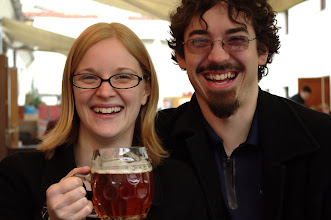 Photo: Amber Czech beer and good company.