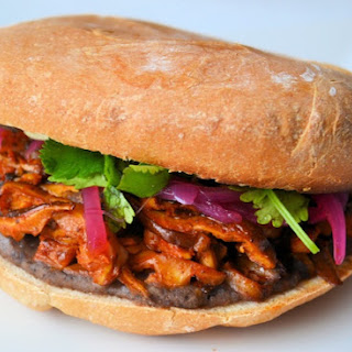 Vegan Pibil Torta Sandwich.