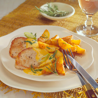 Französisches Rahm-Schnitzel mit Rosmarinkartoffeln