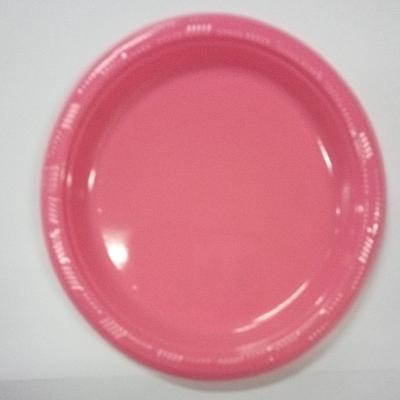 Platos Plasticos Disipal Fucsia 18Cm 10Und