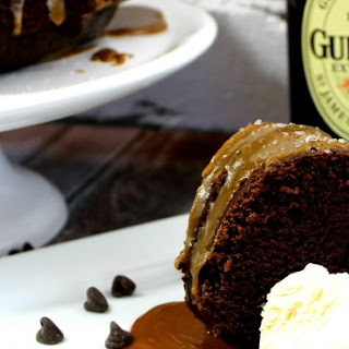 Manly Chocolate Guinness Cake With Salted Caramel Sauce